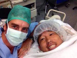 手術後の藤波