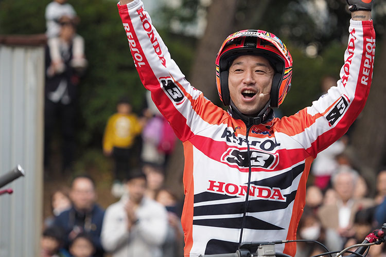 Honda秋の祭典トライアルデモの藤波貴久