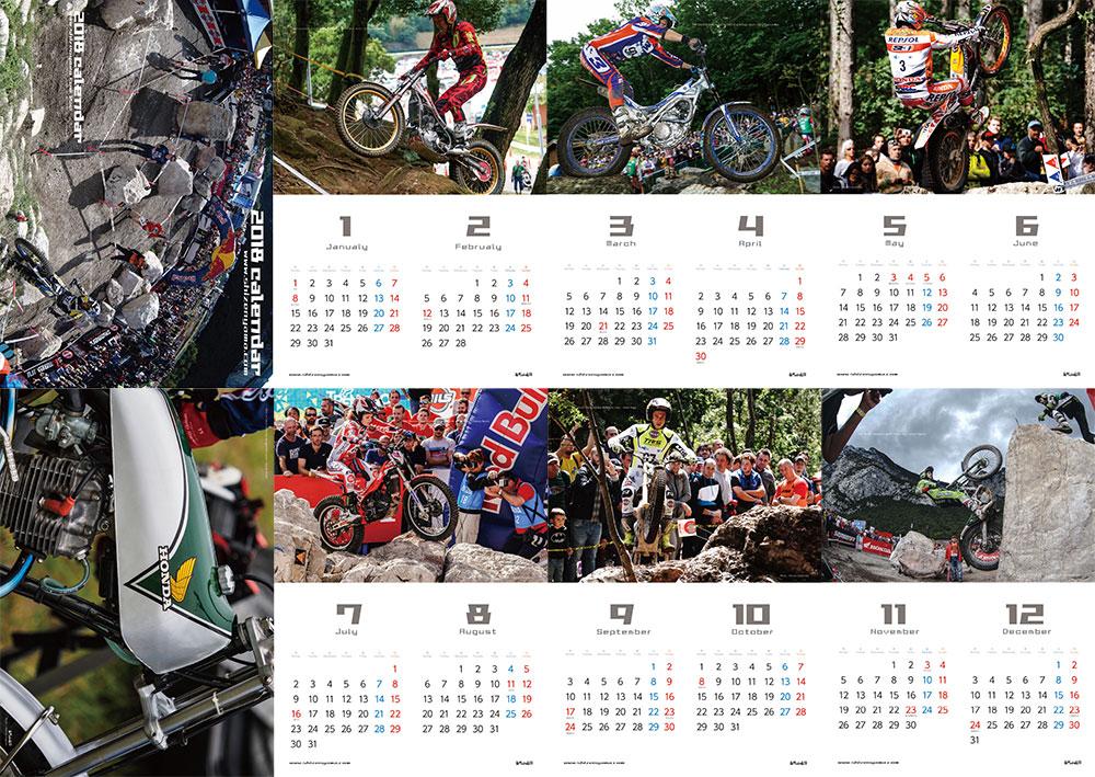 2018トライアルカレンダーの内容