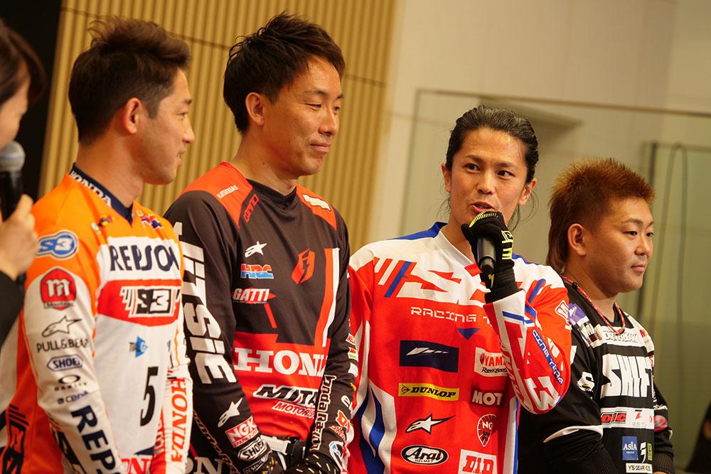 日本を代表するトップライダーによるトークショー