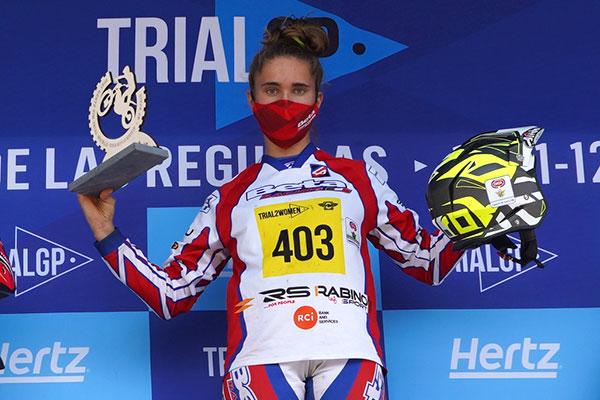 2021年スペインのソフィア・ラビノ。女子トライアル2チャンピオンになる